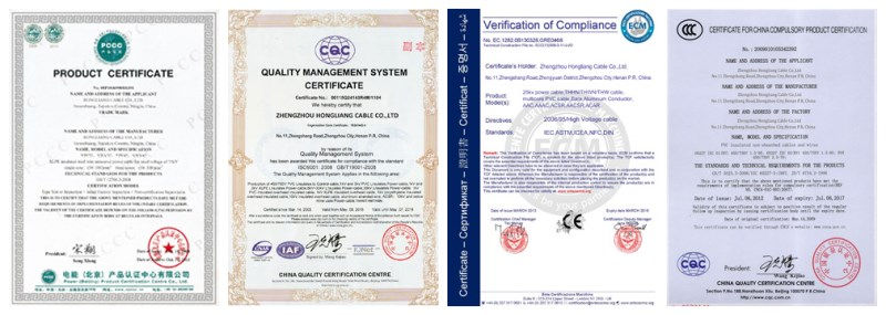 electrical wire supplier certificate